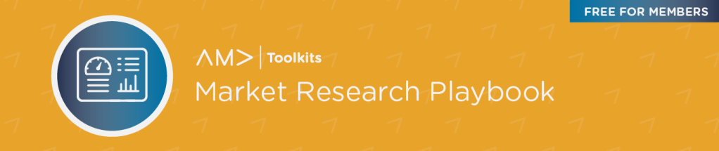 AMA Market Research Playbook banner image