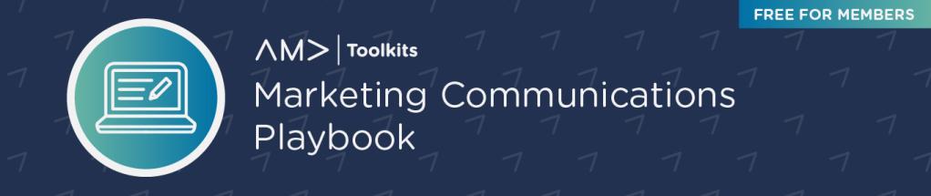 AMA Marketing Communications Playbook banner image